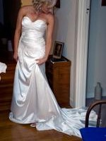 Custom Made Strapless Wedding Gown