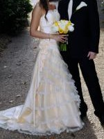 Spanish Inspired A-line Gown with Sweetheart Neckline