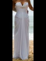 Beautiful White Fitted Strapless Wedding Dress by Peter Trends