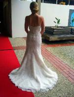 Mermaid/fishtail style Lace Raffaele Ciuca Wedding gown