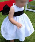 Flower Girls Dress with Black Sash