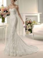 Gorgeous Sweetheart Strapless Mermaid Wedding Dress by La Sposa