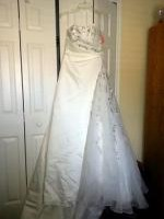 Beautiful Strapless Wedding Gown with a Satin Bolero