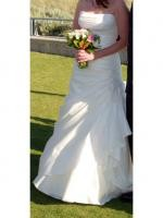 Maggie Sottero - Benita style, strapless, ivory A-line dress