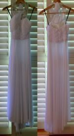 **REDUCED FOR URGENT SALE TO $150.00**Gorgeous Wedding Dress, Shoes, Coat & Accessories