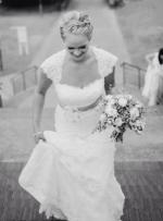 Beautiful Lace Keyhole Back Wedding Gown by Bridal Chic