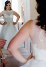 Classic Lace and Tulle Wedding Dress Custom Made
