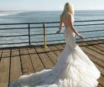 INBAL DROR WEDDING DRESS BR-14-02 BLUSH PINK IVORY MERMAID