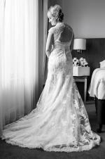 Gorgeous Vintage Style Lace Wedding Gown with with Diamante Belt by Maggie Sottero