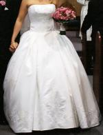 Peretti 2 Piece Bridal Gown with Swarovski Crystals