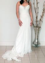 Flattering, sophisticated yet comfortable strapless Maggie Sottero