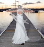 Stunning French Lace Augusta Jones Wedding Dress