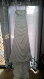 Satin Chiffon Gown by Essense of Australia