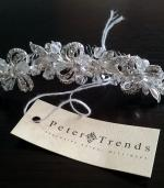 Elegant Tiara by Peter trends and Diamante Trimmed Veil