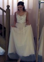 Beautiful Custom Wendy Makin Wedding Dress