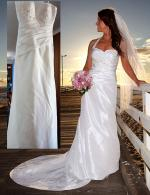 Elegant Strapless or Halter Neck Wedding Dress by Sugar and Spice