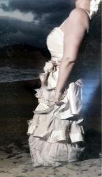 One-of-a-kind Plus Size Dress, Beautiful reconstructed Barbra Calabro (option to wear straps or strapless)