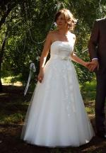 Dreamy Strapless Ivory Wedding Dress by Henry Roth