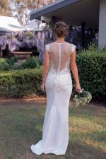 Sheer-lace, Slim-fit, Modern Wedding Dress