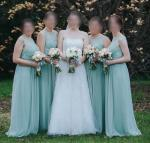 Beautiful Mint Green Lace Bridesmaid Dresses